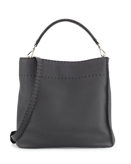 Fendi Large Bucket Hobo Bag, Dark Gray