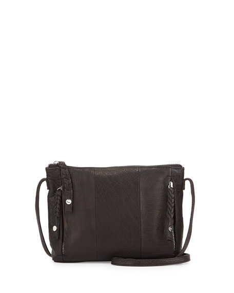 Day & Mood Clive Leather Crossbody Bag, Black