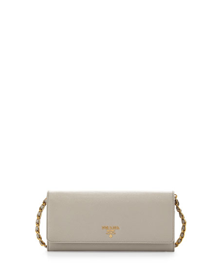 prada saffiano leather wallet-on-chain