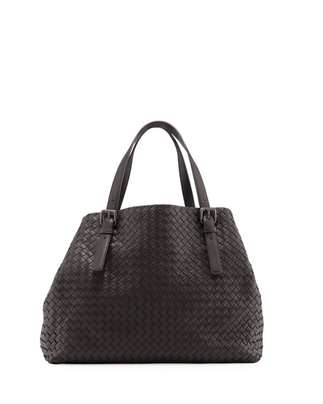 Bottega Veneta Large A-Shape Leather Tote Bag, Espresso