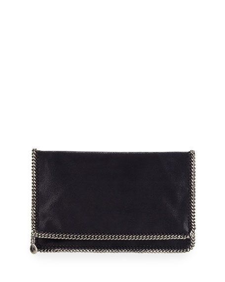 Stella McCartney Falabella Fold-Over Evening Clutch Bag, Navy