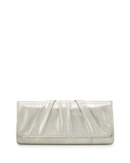 Lauren Merkin Caroline Leather Evening Clutch Bag, Pale Gold