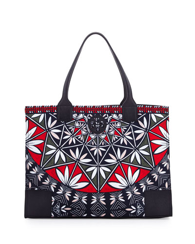 Ella Printed Packable Tote Bag, Pottery Print