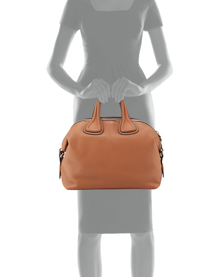 Nightingale Medium Waxy Leather Satchel Bag
