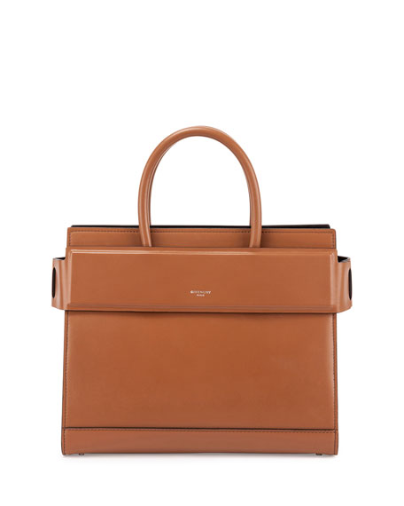 Horizon Medium Leather Satchel Bag, Caramel