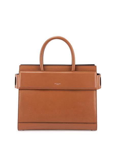Horizon Medium Leather Satchel Bag, Caramel