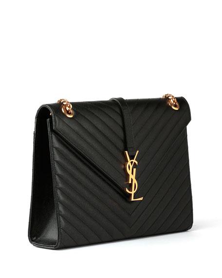 Saint Laurent Monogram Matelasse Leather Chain-Strap Shoulder Bag