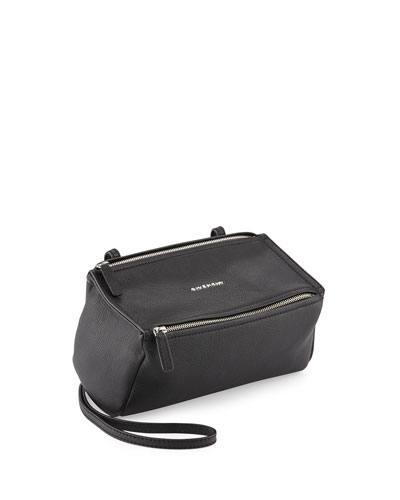 Pandora Mini Goatskin Crossbody Bag, Black