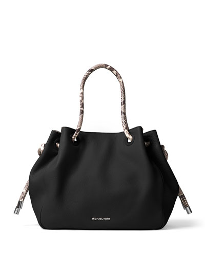 Dalia Large Shoulder Tote Bag, Black