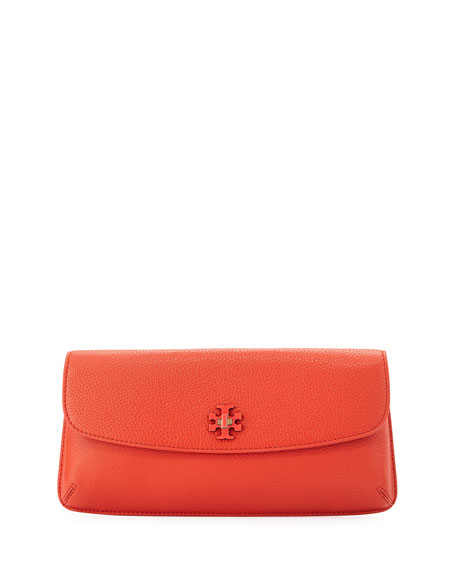 Diana Leather Clutch Bag, Red Canyon