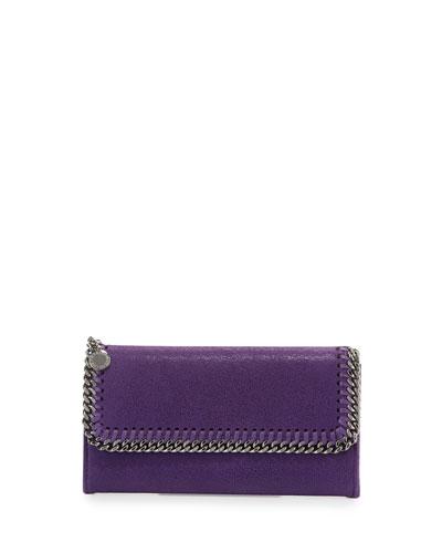Falabella Flap-Top Wallet, Purple