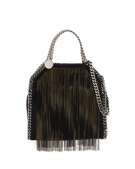 Stella McCartney Falabella Tiny Metal Fringe Tote Bag,
