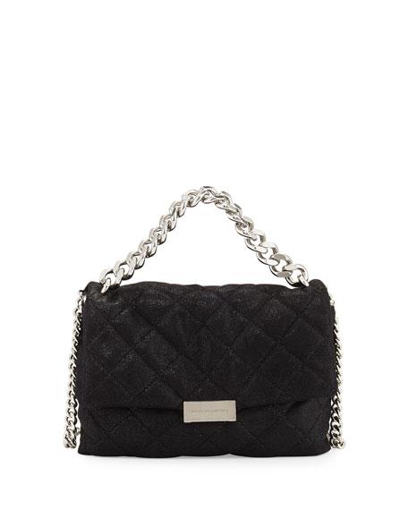Stella McCartneyBex Small Quilted Flap Shoulder Bag, Black