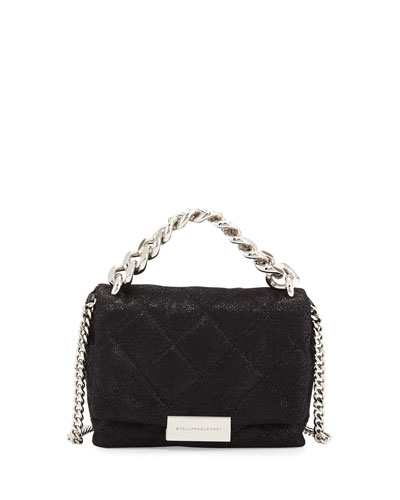 Bex Small Quilted Crossbody Bag, Black