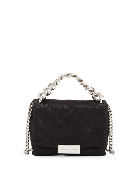 Stella McCartney Bex Small Quilted Crossbody Bag, Black
