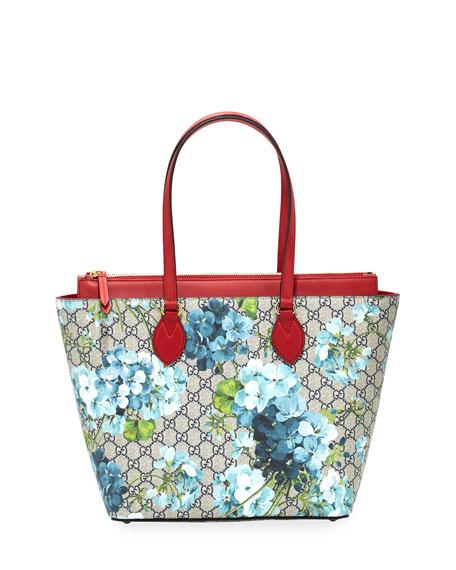 Gucci Gg Blooms Medium Tote Bag Blue Multi Neiman Marcus