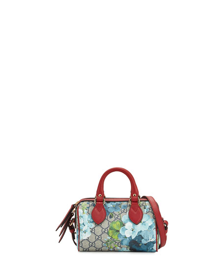 Gucci GG Blooms Mini Top-Handle Satchel Bag, Blue/Multi