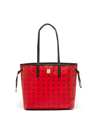 Medium Reversible Shopper Bag, Ruby Red