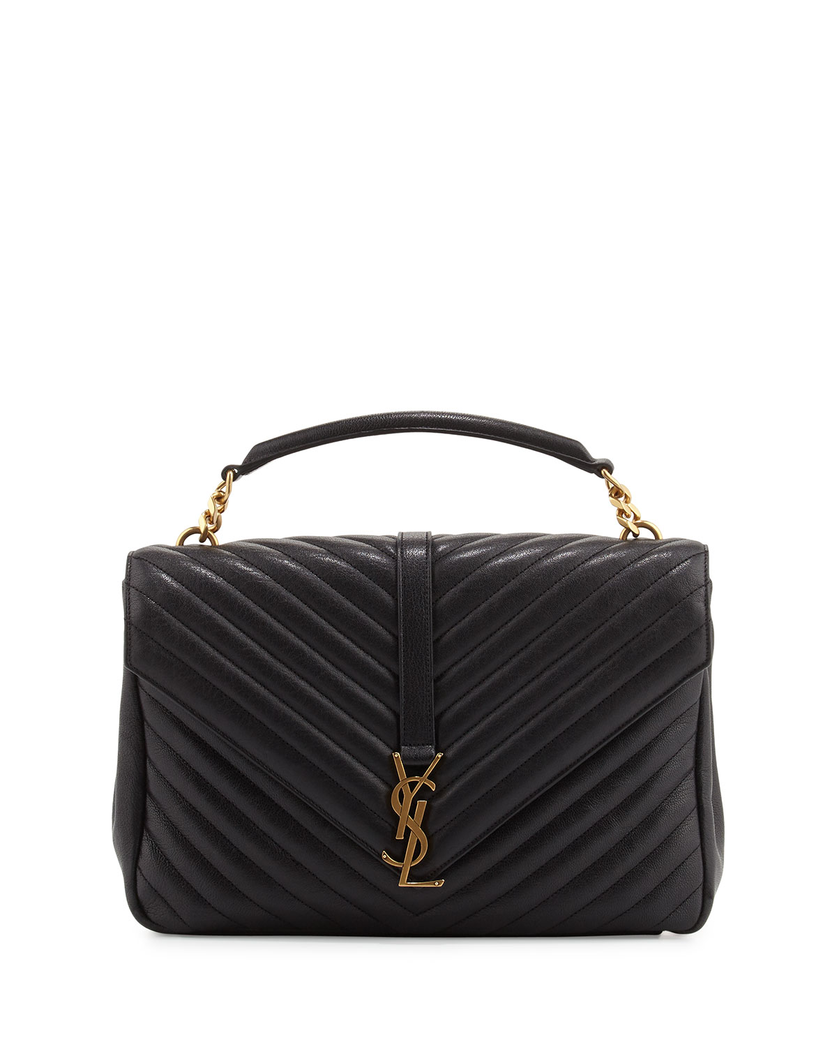 23c214161bd7 Saint Laurent Monogram YSL College Large Chain Shoulder Bag