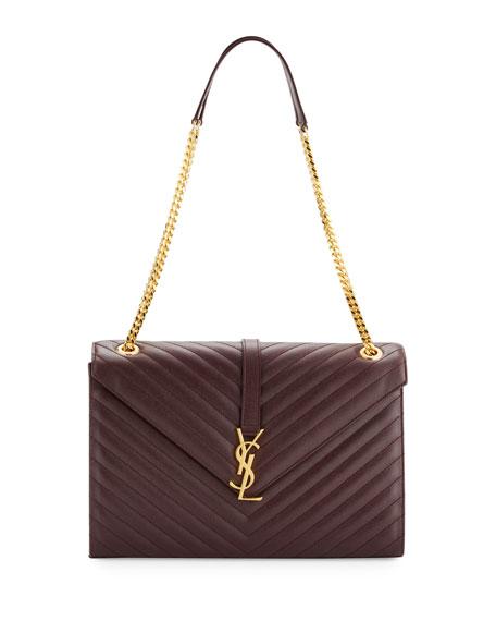 Monogram Large Kate Chain Shoulder Bag, Bordeaux