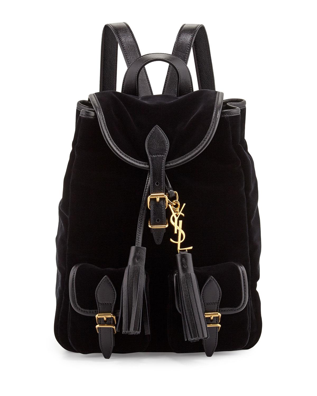 Saint Laurent Festival Small Velvet Backpack 69f7ff3c136c2