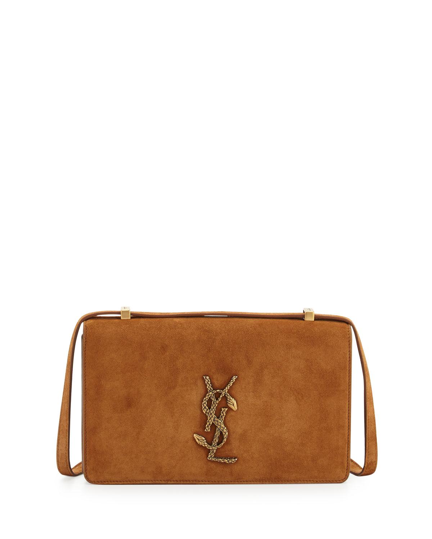 Saint Laurent Small Dylan Monogram Suede Serpent Shoulder Bag 1f5d06beaf82c