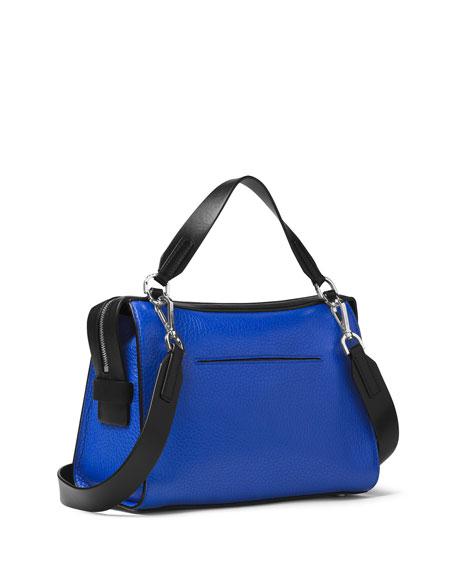5467ee405465 MICHAEL Michael Kors Ingrid Medium Leather Shoulder Bag, Electric Blue/Black