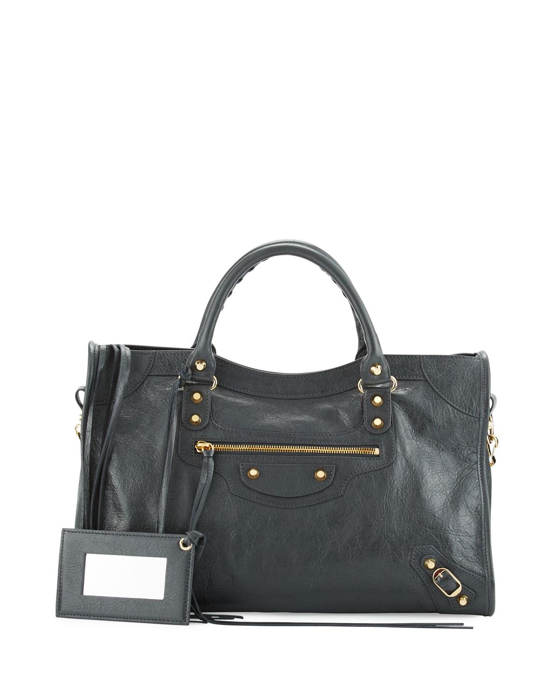 2b03960fec01 Balenciaga Classic Gold City Shoulder Bag