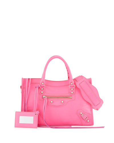 Classic Nickel City Small Satchel Bag, Hot Pink