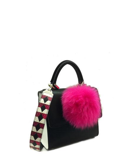 Mini Alex Bunny Frame Bag, Black/White