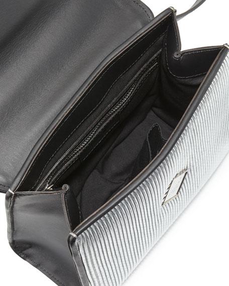 Mini Alex Eyes Shoulder Bag, Silver