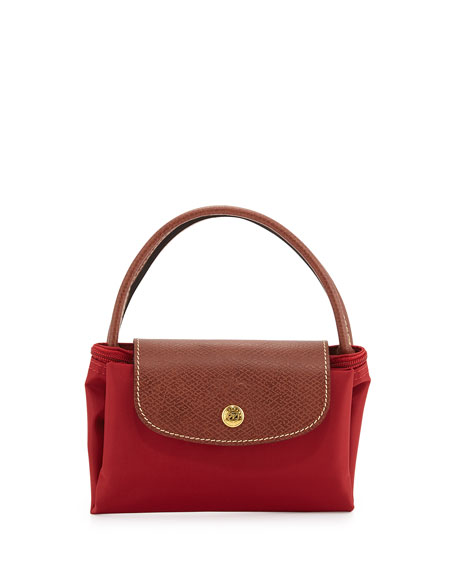 Le Pliage Small Handbag, Deep Red