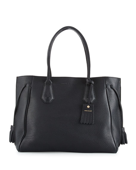 Longchamp Penelope Large Leather Tote Bag | Neiman Marcus