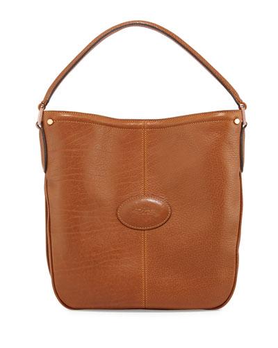 Mystery Leather Hobo Bag, Cognac