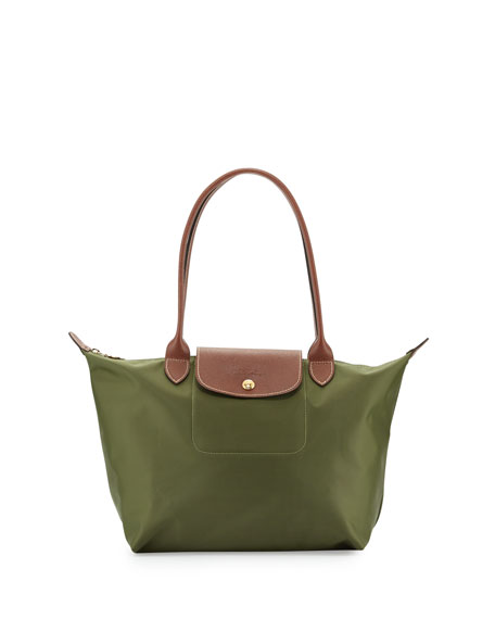 Longchamp Le Pliage Medium Shoulder Tote Bag, Khaki