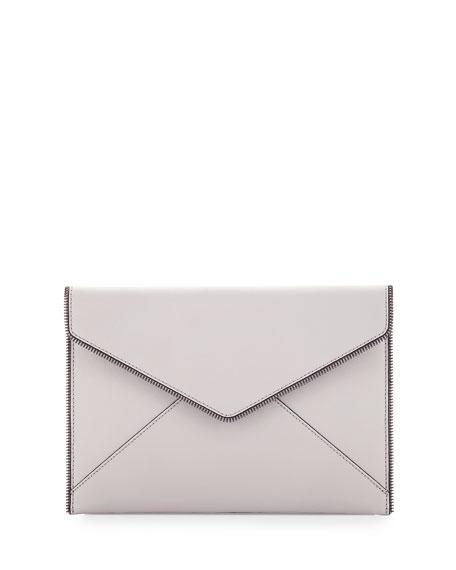 Leo Saffiano Envelope Clutch Bag