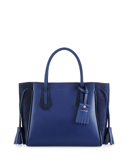 Longchamp Pénélope Small Leather & Suede Tote Bag,