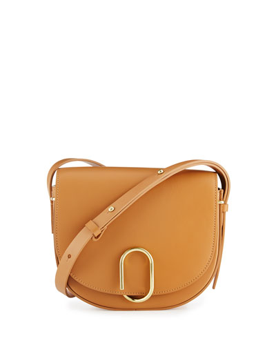 Alix Leather Saddle Bag, Camel