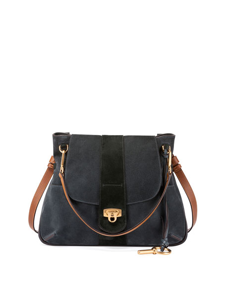 Chloe Lexa Medium Shoulder Bag, Blue