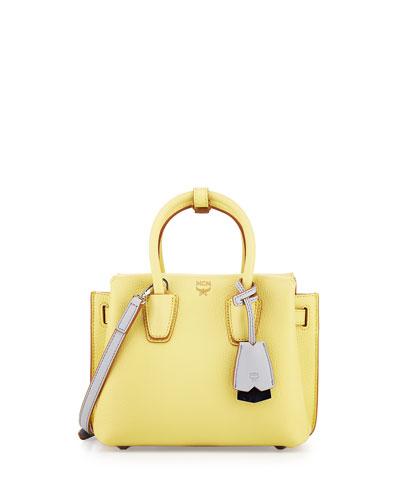 Milla Mini Leather Tote Bag, Yellow