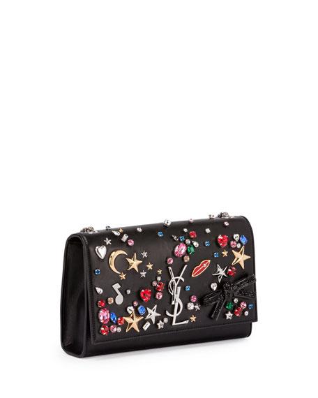 Monogram Medium Mix & Match Chain Shoulder Bag, Black/Multi