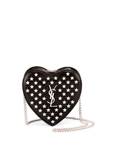 Monogram Small Star Love Crossbody Bag, Black