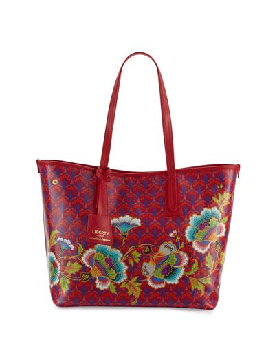 Little Marlborough Paradise Tote Bag, Red