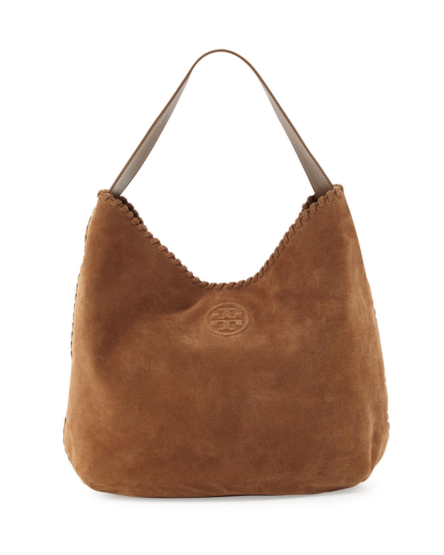 08b78ce5338 Tory Burch Marion Suede Hobo Bag