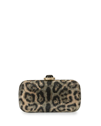 Soap Dish Crystal Evening Clutch Bag, Champagne/Multi
