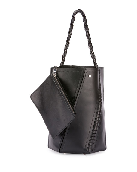 Proenza Schouler Hex Medium Whipstitch Leather Bucket Bag,