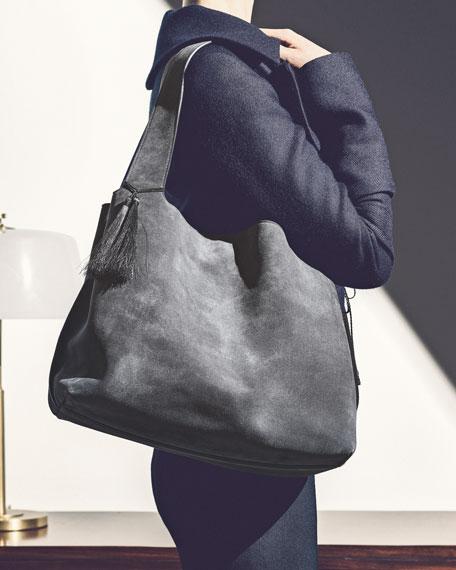 Duplex Suede Satchel Bag