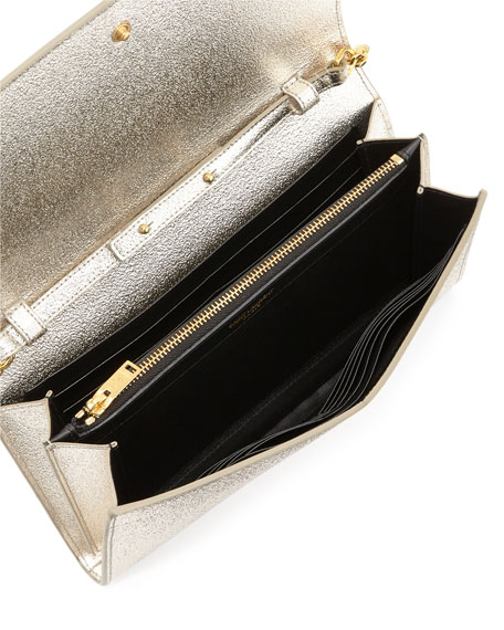 Monogram Medium Wallet-on-Chain Bag, Gold