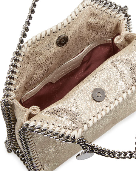 Falabella Tiny Shoulder Bag, Platinum