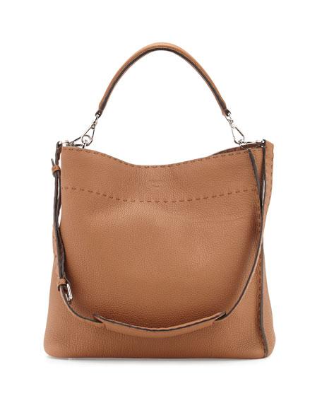 Fendi Large Bucket Hobo Bag, Camel
